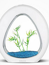 cheap -Mini Aquariums Ornament Noiseless Non-toxic & Tasteless Sterilize Artificial With Switch(es) Adjustable Noctilucent Aluminum Stainless