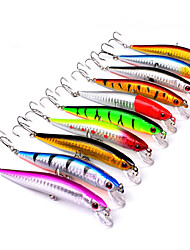 cheap -10 pcs Fishing Lures Hard Bait Minnow Crank Lure Packs Floating Sinking Bass Trout Pike Sea Fishing Bait Casting Spinning Hard Plastic Plastic / Freshwater Fishing / Bass Fishing / Lure Fishing