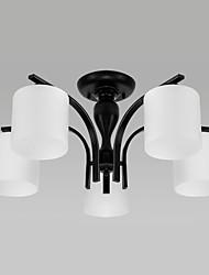 cheap -5-Light 72 cm LED Flush Mount Lights Metal Glass Others Vintage / Country 110-120V / 220-240V / E26 / E27