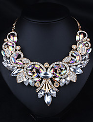 cheap -Statement Necklace Women's Crystal Luxury Basic Victorian Brown Rainbow Necklace Jewelry for Wedding Party Anniversary Daily Casual Engagement / Valentine