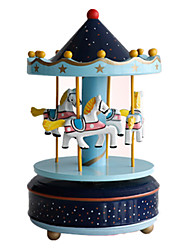 cheap -Music Box Carousel Music Box Horse Carousel Merry Go Round Cute Party DIY Unique Plastic Women's Unisex Girls' Kid's Adults Graduation Gifts Toy Gift