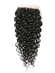 cheap -8inch braizlian kinky curly closure best virgin brazilian lace closure bleached knots closures free middle 3part closure