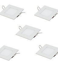 cheap -5pcs 3 W 15 LED Beads Easy Install Recessed LED Recessed Lights LED Panel Lights Warm White Cold White 85-265 V Commercial Home / Office Children's Room / RoHS / CE Certified