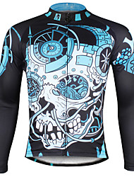 cheap -ILPALADINO Men's Long Sleeve Cycling Jersey Winter Polyester Bike Jersey Top Mountain Bike MTB Road Bike Cycling Breathable Quick Dry Ultraviolet Resistant Sports Clothing Apparel / Stretchy