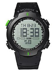 Недорогие -Муж. Спортивные часы электронные часы Цифровой силиконовый Черный 30 m Цифровой Красный Зеленый Синий