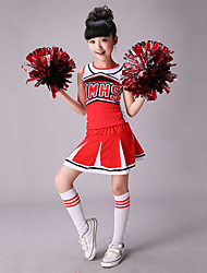 cheap -Cheerleader Costumes Outfits Performance Cotton / Spandex Splicing Sleeveless High Top / Skirt