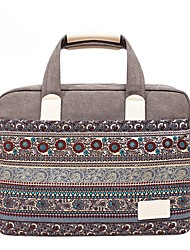 "cheap -13.3"" 14"" 15.6"" Bohemian Style Canvas Laptop Shoulder Messenger Bag Handbags for Macbook/Surface/HP/Dell/Samsung/Sony Etc"