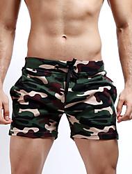 cheap -Men's Active / Street chic / Military Beach Weekend Straight / Slim / Shorts Pants - Camo / Camouflage Classic / Knitting / Fashion Gray Fuchsia Army Green M L XL