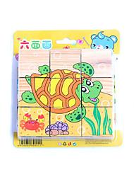 abordables -Petites Voiture Puzzles 3D Puzzle Fruit Animal marin Animaux Bois Enfant Jouet Cadeau