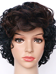 cheap -Synthetic Wig Curly Curly Wig Short Natural Black Synthetic Hair Women's Ombre Hair Black Brown