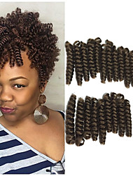 cheap -Braiding Hair Bouncy Curl / Toni Curl Twist Braids / Pre-loop Crochet Braids / Curlkalon Hair Synthetic Hair / 100% kanekalon hair 20 roots / pack Hair Braids Burgundy / Ombre 10 inch 100% kanekalon