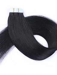 cheap -Tape In Human Hair Extensions Straight Silky Straight Remy Human Hair Human Hair Burgundy