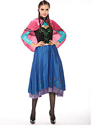 cheap -Princess Fairytale Elsa Cosplay Costume Party Costume Women's Halloween Carnival Festival / Holiday Terylene Carnival Costumes Solid Colored