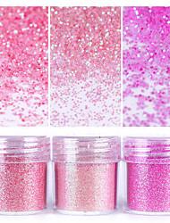 cheap -pink shining nail glitter powder 1box 10ml nail art dust tips nail art decoration for nail polish