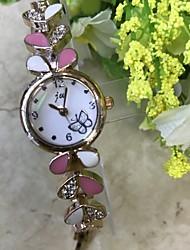 cheap -Women's Bracelet Watch Wrist Watch Simulated Diamond Watch Quartz Rose Gold Imitation Diamond / Analog Ladies Casual Fashion - Red Pink Khaki