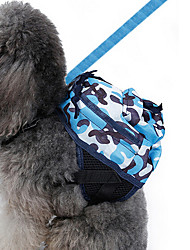 cheap -Dog Commuter Backpack Winter Dog Clothes Blue Costume Oxford Fabric Camo / Camouflage Classic Birthday Holiday M