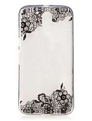 cheap -Case For Motorola Moto G4 Plus / Moto G4 Play IMD / Transparent / Pattern Back Cover Lace Printing Soft TPU