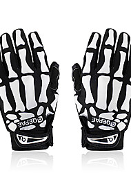 cheap -QEPAE Winter Bike Gloves / Cycling Gloves Mountain Bike MTB Breathable Anti-Slip Sweat-wicking Protective Full Finger Gloves Sports Gloves Lycra Black / White Skull for Adults' Outdoor