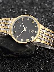 cheap -Men's Fashion Watch Quartz Black / White / Gold Analog Gold White Black