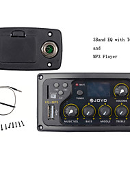 cheap -JOYO EQ-MP3 3Band EQ with Tuner and MP3 Player Acoustic Guitar MP3 Equalizer Music Volume Bass Middle Treble Presence Captador