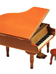 cheap -Music Box Model Building Kit Wooden Model Piano Vintage Retro Kid's Gift Unisex Gift