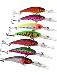 cheap -7 pcs Fishing Lures Hard Bait Minnow Crank Floating Sinking Bass Trout Pike Sea Fishing Fly Fishing Bait Casting Hard Plastic / Spinning / Jigging Fishing / Freshwater Fishing / Carp Fishing