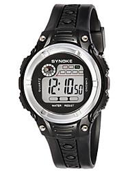Недорогие -Муж. Модные часы электронные часы Цифровой силиконовый Черный Цифровой Желтый Красный Синий