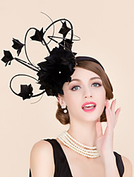 cheap -Rhinestone / Feather Kentucky Derby Hat / Fascinators / Hats with 1 Wedding / Special Occasion / Casual Headpiece