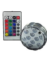 cheap -4 W 200-250 lm 10 LED Beads SMD 5050 Waterproof Remote-Controlled RGB Red Blue 4.5 V