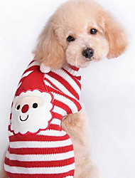 cheap -Dog Coat Sweater Winter Dog Clothes Red Costume Cotton Animal Casual / Daily Fashion Christmas XS S M L