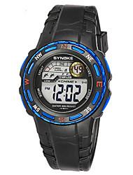 Недорогие -Муж. Модные часы Цифровой силиконовый Черный Цифровой Черный Желтый Синий