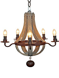 cheap -QINGMING® 5-Light 40 cm Mini Style / Designers Pendant Light Metal Painted Finishes Rustic / Lodge / Retro 110-120V / 220-240V
