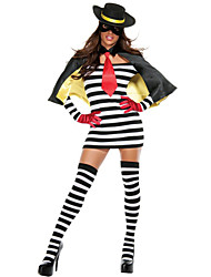 cheap -Super Heroes Hamburglar Cosplay Costume Cloak Women's Halloween Festival / Holiday Spandex Terylene Women's Carnival Costumes Other / Dress / Shawl / Gloves / Socks / Hat