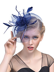 cheap -Tulle / Feather Fascinators with 1 Wedding / Special Occasion / Horse Race Headpiece