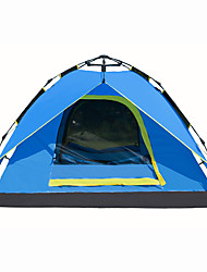 cheap -4 person Automatic Tent Outdoor Waterproof Quick Dry Breathability Double Layered Automatic Dome Camping Tent 2000-3000 mm for Hiking Camping Outdoor Oxford 210*210*125 cm