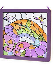 cheap -Sticker Jigsaw Puzzle Wooden Puzzle Bird Fun Crystal Wood Glass Classic Toy Gift
