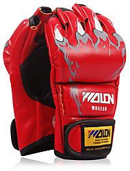 cheap -Boxing Gloves For Boxing Fingerless Gloves Protective Leather Red / Blue