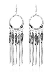 cheap -Women's Crystal Personalized Unique Design Fashion Euramerican Earrings Jewelry Silver For Wedding Party Birthday Gift
