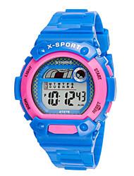 Недорогие -Муж. Модные часы Цифровой силиконовый Черный / Белый / Синий Цифровой Зеленый Синий Розовый