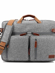 "cheap -CooBELL 17"" Laptop Shoulder Messenger Bag / Commuter Backpacks / Briefcase Handbags Textile Solid Color for Business Office"