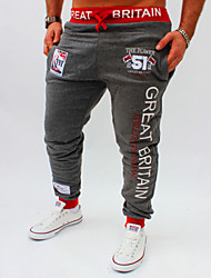 cheap -Men's Active Basic Sports Slim Loose Active Sweatpants Pants - Letter Print Summer Black Light gray Dark Gray M / L / XL / Elasticity