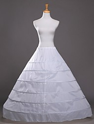 cheap -Wedding / Party / Evening Slips Cotton / Polyester Floor-length Glossy / A-Line Slip / Ball Gown Slip with White Bow