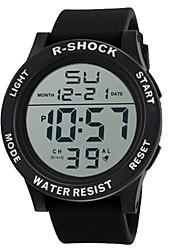 Недорогие -Муж. Спортивные часы электронные часы Цифровой силиконовый Черный 30 m Горячая распродажа Цифровой Кулоны - Черный Белый Синий