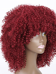 cheap -red color wigs for black women kinky curly synthetic women european wigs
