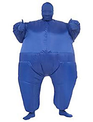 cheap -Wrestler Sumo Cosplay Costume Halloween Props Inflatable Costume Men's Women's Movie Cosplay Halloween Leotard / Onesie Air Blower Halloween New Year Polyester