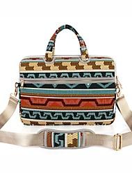 """Недорогие -13,3 """"14"""" 15,6 """"сумка через плечо портфель сумки холст цветочный принт для MacBook / Surface / HP / Dell / Samsung / Sony и т.д."""