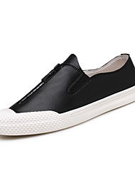 cheap -Men's Comfort Shoes Leather Spring / Fall Sneakers Walking Shoes Black / White / Gray / Athletic / Office & Career