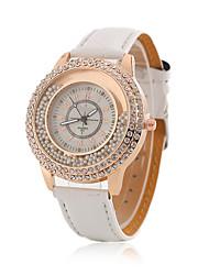 Недорогие -Жен. Модные часы Кварцевый Кожа Группа Повседневная Белый Розовый Фиолетовый