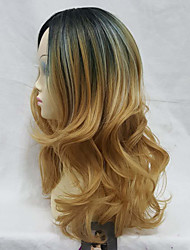 cheap -Synthetic Wig Loose Wave Loose Wave Layered Haircut Wig Medium Length Long Yellow Synthetic Hair Women's Ombre Hair Dark Roots Middle Part Red StrongBeauty