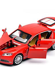 Недорогие -1:32 Игрушечные машинки Автомобиль Гоночная машинка Звуковое сопровождение Электроника Светодиодная лампа Металлический сплав / Детские